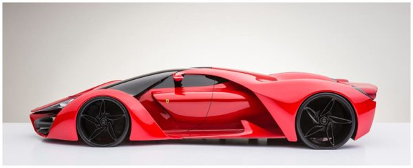 ferrari v8 laddhybrid hybrid elbil sportbil lyxbil röd