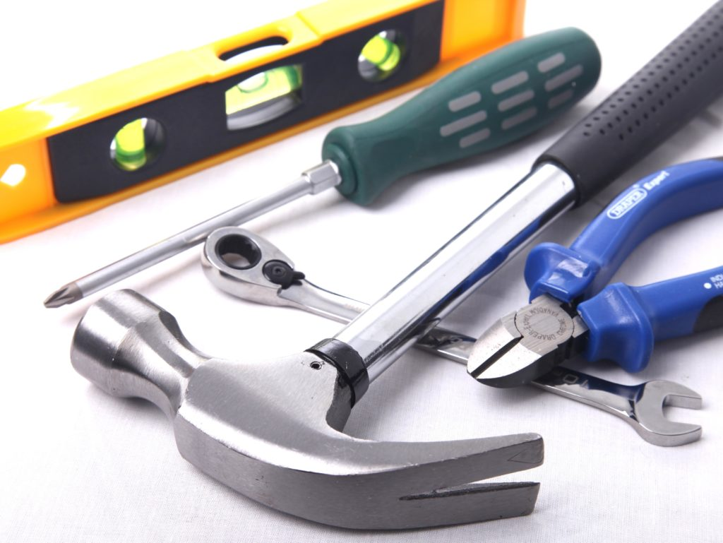 bygga uterum verktyg och material